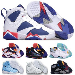 New Retro 7 Basketball Shoes Real Sneakers Women Men Authentic Retro 7s VII Replica Zapatos Mujer Homme Retro Shoe