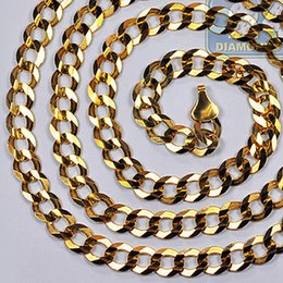 Solid 10K Yellow Gold Cuban Curb Link Mens Chain 38 Grams 8 mm 30 Inches Italy
