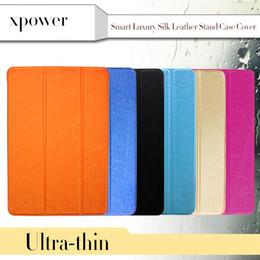 Compra Online Soportar pulgadas-Piel de seda Ultral Smart PU caso de soporte de cuero con magnético para 7,9 '' iPad Mini 1 2 3 9.7 pulgadas iPad Air2 plegable transparentes Clear Covers