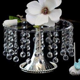 Promotion tableau acrylique clair 10pcs mariage cristallin gâteau gâteau point cadre coeur cadre acrylique dessert table