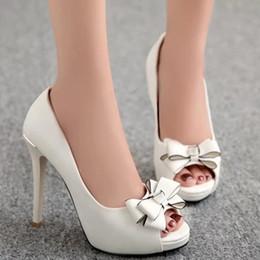 2017 chaussures habillées pour les femmes prix Grossiste prix d'usine de livraison gratuite PU Bowtie nouveau style peep toes sexy talon haut chaussures robe de femme 193 budget chaussures habillées pour les femmes prix