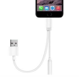 2 en 1 3.5mm auriculares auriculares jack audio y cargador adaptador para iphone 7 7 más cable de conector de carga desde cargos cables iphone fabricantes