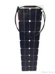 50W / 12V Полу гибкие солнечные панели с передней стороны водонепроницаемой соединительной коробкой для лодки от Поставщики flexible solar panel