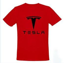 2017 coche de camisetas al por mayor El tamaño al por mayor S-2XL 5 de la CAMISETA de los HOMBRES de la camiseta del coche del automóvil descubierto del modelo S de los Motors-Tesla de la venta al por mayor-Tesla libera el envío descuento coche de camisetas al por mayor
