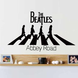 Hot Creative Dctop The Beatles Abbey Road Home Decoration Wall Art Decals Wall Stickers Decor Murals Diy