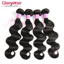 Wholesale Mink Brazilian Hair Bundles Unprocessed Human Hair Weaves Peruvian Malaysian Indian Cambodian Hair Extensions Body Wave Bundles a Dh Gates