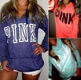 Promotion manteau pull à manches Women Pink Letter Sweatshirts VS Pink Tops VS Pink Pullover Letter Print Hoodie Chemise de mode Manteau à capuche à manches longues Sweat OOA1470