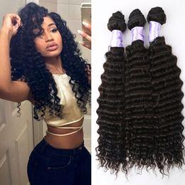 8A Cheap Beauty Brazilian Deep Wave Hair Brazilian Deep Curly Virgin Hair Bundles Brazilian Virgin Human Hair Extension 300g lot