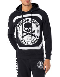 Wholesale Best price New arrivial qp men s big print skull hoodies qp Mens fashion Hedging with hat hoodies
