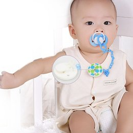 Wholesale Safety Attache Sucette Baby Pacifier Clip Chain Plastic Dummy Holder Soother Chain Drop resistant Nipple Clip Holder VCR19 P50