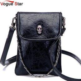 Venta al por mayor,Vogue Star 2016 nueva llegada de la moda Hombro Cruz,cuerpo de los pequeños bolsos de la cadena del cráneo del teléfono móvil bolso de la