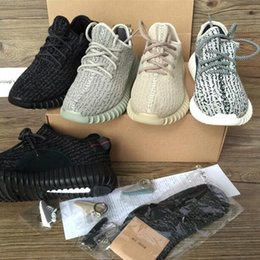 350 Boost Sneakers Training Shoes Fashion Women and Men Running Sports Shoe Low Kanye West Boots (Keychain+Socks+Receipt+Box)