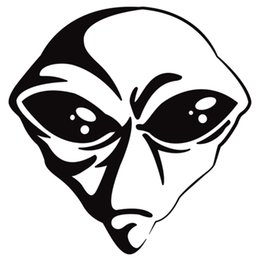 Alien Head Vinyl Decal Sticker Car Truck Window Car Styling Vinyl Decal
