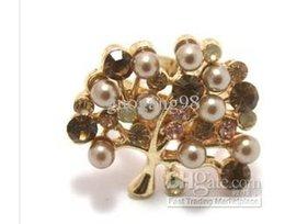 pearl flower women's ring