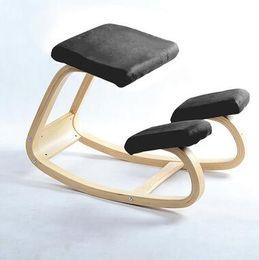 Wholesale Original Ergonomic Kneeling Chair Stool Home Office Furniture Ergonomic Rocking Wooden Kneeling Computer Posture Chair Design