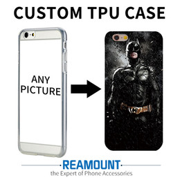 100pcs Custom DIY Print Phone Cases For Apple iPhone 5 5S SE 6 6S 7 Plus 6Plus Cover Case Personalized Silicone Soft Back Shell Bags