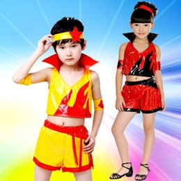 Hot sale Children 's jazz dance gymnastics modern dance hip - hop children' s clothing four - piece free shopping