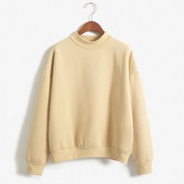 Wholesale Korean Style Women Loose Pullover Sweater Autumn Women Fleece Sweater Pullovers