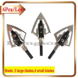 Wholesale 6Pcs Arrow Shafts Bow Hunting Heads Arrow Tips Grains Archery Hunting Screw Arrow Broadheads Archery Equipment