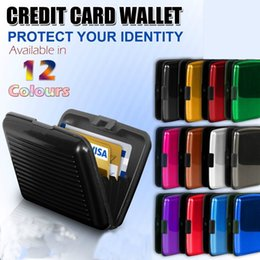 Wholesale Aluminium Wallet Business ID Card Holders Bank Card Pocket Cases Contactless Protection Security Credit Card Metal Waterproof Box Case F37
