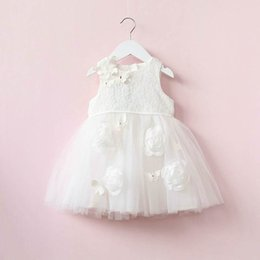 Promotion robes en tulle sans manches 2017 Summer New Girl Dress Butterfly Lace Fluffy Tulle Princess Dress Enfant Vêtements 315645