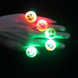 Flash of light Soft Finger ring Expression Finger lamp Cartoon Children Toys Plastic Luminescence LED Finger ring