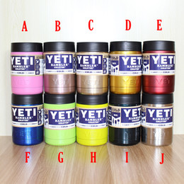 Wholesale 10 Multi colors Yetis oz Stainless Steel Colster Can Yetis Coolers Rambler Colster YETIs Cars Beer Mug Insulated Koozie oz Cups