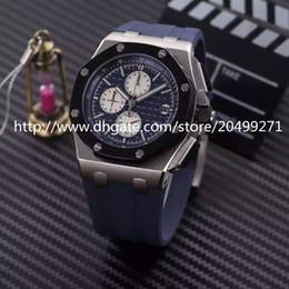 Promotion mens multi fonction Luxe affaires de la mode classique d'importation précise multi-fonction mouvement de quartz imperméable à l'ongle échelle silicone watchband Mens Watch