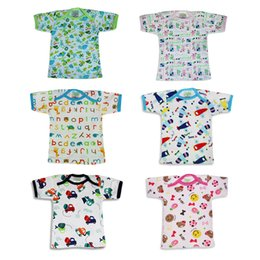 Wholesale piece New infant Baby half back baby tops infant underwear singleton coat pure cotton shirt Good Quality Pattern rich Square collar