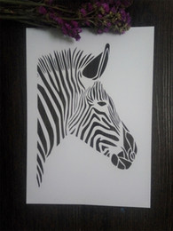 wholesale DIY drawing stencils for kids Masking template For Scrapbooking,cardmaking,painting,DIY cards-Zebra head 009