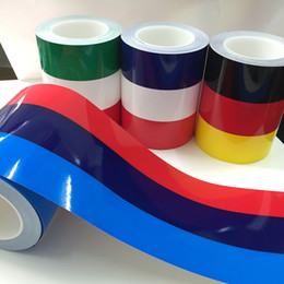 Wholesale 1pcs Car Stickers cm cm Flag Three Color Strip Car Sticker Car Roof Hood Sport Decal Germany France Italy Decorative For BMW Sticker