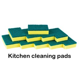 30 Pcs Lot Hot Sale Kitchen Cleaning Brushes Household Cleaning Tools Scrouring Pads Pot Pan Washing Sponge Pads