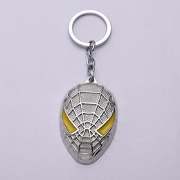 Syndicats d'usine en Ligne-Factory direct Avenger Union film autour de l'artisanat métal Spiderman masque porte-clés commerce de gros en gros