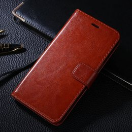 For BBK vivo Y55 5.2 inch Luxury Crazy Horse Retro Wallet Leather Cover Case With Card Slots Stand Phone Case