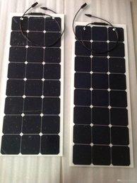 Connecteur mc4 panneau solaire en Ligne-75W Chargeur de Panneau Solaire 12V SunPower Cellulaire Ultra Mince Flexible avec Chargeur de Connecteur MC4