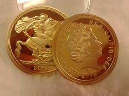 Wholesale New The GOLD CLAD monarch Ounce K Gold Plated US mint gold bullion moedas comemorativas numismatics celtic UK British Sovereign Gold coin