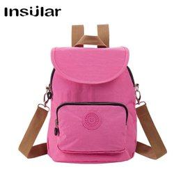 New Arrival Fashion Insular Waterproof Women Backpack Teen Girl School Bag Nylon Daypack Women Messenger Bag