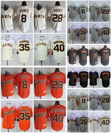 Wholesale 2017 San Francisco Giants Maillot de base ball Buster Posey Madison Bumgarner Brandon Crawford Hunter Pence Stitched Cool Base Maillots