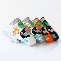 Wholesale Golf Putter Headcover Avec Mermaid Flower Putter Cover Lame Style Blanc Noir Sliver PU Cuir couleurs