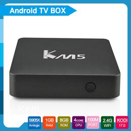 Wholesale KM5 S905X Android TV Box Quad core bit CPU Penta core GPU GB RAM GB ROM fully loaded Stream Box TV