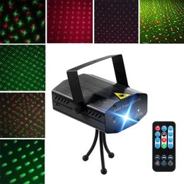 Sumger Christmas mini RG Laser DJ Party Stage Light 150mW Disco Dance Lights Mini Laser Stage Lighting with remote control Sound Activated