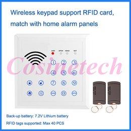 Descuento sistema de etiquetas rfid Teclado sin hilos de la venta al por mayor-433 / 315MHZ RFID, teclado del teclado de la contraseña para el sistema de alarma casera del pstn del G / M, etiqueta de RFID Sistema de control de acceso auto-lock