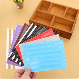 Wholesale DIY Colors PVC Colorful Corner Paper Stickers Frame Decoration Scrapbooking Scrapbook Album