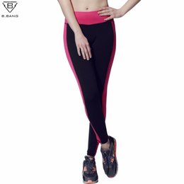 2017 pousser les jambières de gymnastique Vente en gros- B.BANG Fitness Women Running Tights Sports Push-Up Pantalon sport élastique Femmes Pantalons sport Pantalons de course Gym Leggings de yoga bon marché pousser les jambières de gymnastique