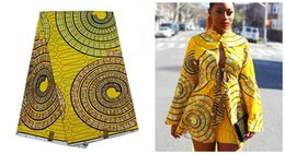 Wholesale super wax hollandais latest cheap fabrics in yellow for african lady dresses yard YBG