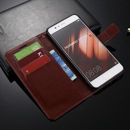 For Huawei P10 P10 Plus Luxury Crazy Horse Retro Wallet Leather Cover Case With Card Slots Stand Holder Phone Bag Case