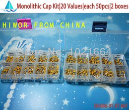 Wholesale Values Leaded Multilayer Monolithic Ceramic Capacitor pf uF Assorted kit platic boxes