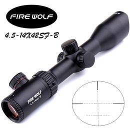 Wholesale NEW Fire Wolf X42 B SF Riflescopes Rifle Scope Hunting good Scope w Mounts