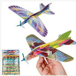 2017 planeadores de bricolaje 2017 Haga su propio planeador de espuma Surtido de propulsión de la energía Volar planeadores Planeadores de pájaros Aviones Avión Niños Niños DIY Rompecabezas Juguetes planeadores de bricolaje baratos