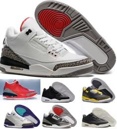 New Retro 3 Basketball Shoes Sports Replicas Authentic Man Sneakers Buy Aires Fashion Men Women Retro Shoes 3s III Shoes Sale